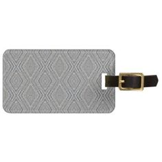 Cable Diamond Pattern Grey and Light Blue Design Bag Tag - patterns pattern special unique design gift idea diy
