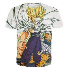 Dragon Ball Teen Gohan Super Saiyan Goku Vegeta Trunks Super Style T-Shirt. #DragonBall #TeenGohan #SuperSaiyan #Goku #Vegeta #Trunks #Super #Style #TShirt