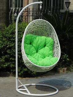 Steel Rattan Hanging Chair,Egg-shape    Size:120*80*58cm    Ground ring:Dia.95cm(straight rod)/105cm(curved rod)