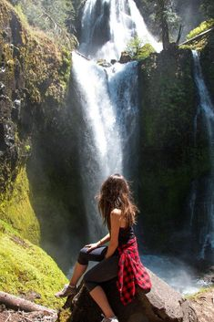 Two waterfalls of Gifford Pinchot National Forest Hiking Photography, Girl Photography Poses, Summer Photography, Gifford Pinchot National Forest, Lovely Girl Image, Colorado Hiking, Aesthetic Pictures, The Great Outdoors, Photos