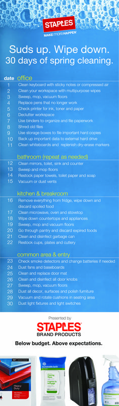 We know spring cleaning and organization can be overwhelming. That's why we made it easy with this helpful guide.