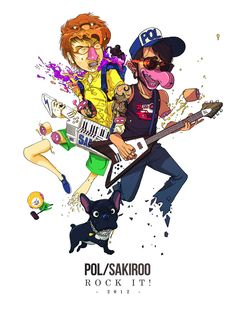 Special Musician Collaboration by Sakiroo Choi, via Behance