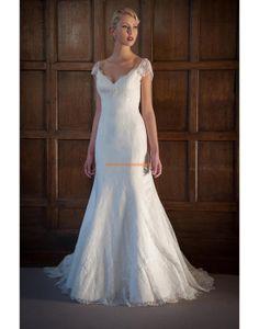 Außergewöhnliche Rückenfreie Hochzeitskleider aus Spitze
