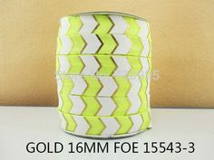 "5Y15543 free shipping 5/8"" gold foe ribbon diy headwear hairbow craft sewing decoration accessories mini order $6"