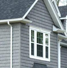 dark grey vinyl siding with white trim fabulous grey vinyl siding dark grey vinyl siding houses siding for houses exterior siding panels hardboard Grey Siding, Clapboard Siding, Shingle Siding, House Siding, House Paint Exterior, Exterior Siding, Exterior House Colors, Rock Siding, Steel Siding