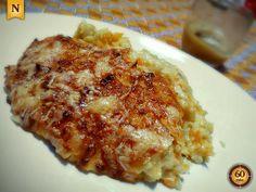 BACALHAU À COMADRE NA BIMBY Carne, Portuguese Recipes, Portuguese Food, Cod Recipes, Cod Fish, Lasagna, Macaroni And Cheese, Seafood, Good Food