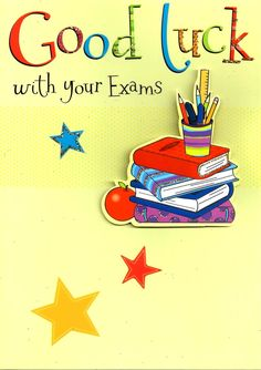 GBP - Good Luck With Your Exams Greeting Card Flittered Glitter Lucky Cards & Garden Exam Good Luck Quotes, Exam Wishes Good Luck, Best Wishes For Exam, Good Luck New Job, Job Wishes, Good Luck For Exams, Exam Quotes, Good Luck Cards, Good Luck To You