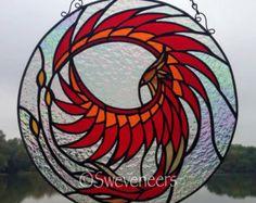 Sweveneers Sugar Skull Stained Glass Panel by Sweveneers on Etsy