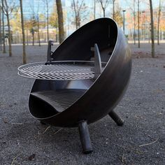 Metall Werk Zürich AG - Bubble Grill fix Fire Pit Grill, Fire Pit Backyard, Fire Pits, Barbecue Pit, Bbq Grill, Grill Party, Cooking Stove, Fire Pit Designs, Grill Design