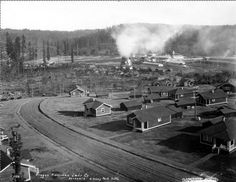 Vernonia, Oregon 1929 with saw mill in background.