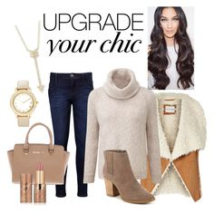 """""""cozy chic"""" by aliciawiseman on Polyvore featuring EF Collection, Levi's, Michael Kors, Chico's, Madden Girl and tarte"""