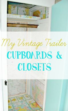My Vintage Trailer - Cupboards and Closets