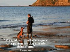 """""""My goal in life is to be as good of a person my dog already thinks I am. My Goal In Life, More Than Words, I Laughed, Best Quotes, Goals, Mountains, Travel, Dog, Inspiration"""