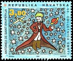 Here's Croatia's take on The Little Prince in stamp form from 1994.