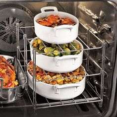 multi-tierd oven racks - need this for the holidays!