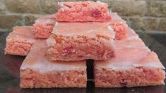 Strawberry Brownies Recipe Just A Pinch.Strawberry Chocolate Brownies Recipe Just A Pinch Recipes. Santa Hat Brownies Recipe Just A Pinch Recipes. Home and Family Easy Summer Desserts, Summer Dessert Recipes, Delicious Desserts, Yummy Food, Summer Potluck, Recipes Dinner, Easy Party Recipes, Cool Recipes, Recipes For Desserts