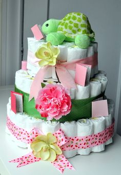 Second Diaper Cake for Baby Showers