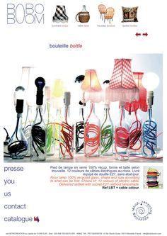 bottle lamps..such a cool idea..