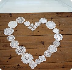 quilt design - fill heart with doilies
