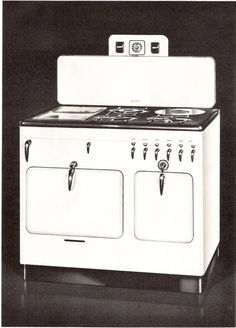 Chambers Model 12-B gas range - the stove my grandmother, mother, brother and I have all cooked on since 1944.