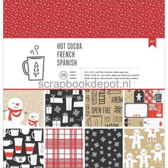 American Crafts Hot Cocoa - Paper Pad 12x12inch