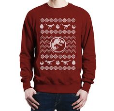 T Rex-mas - Jurassic Park Christmas Sweater/Jumper (High Quality - Exclusive Design - Custom Print - All Colours Available!) by somethingvicious on Etsy https://www.etsy.com/listing/252356528/t-rex-mas-jurassic-park-christmas