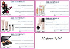 Mary Kay Flyers | Mary Kay Assorted Gift Certificates