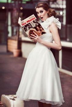 Bobbi Dazzler tea length wedding