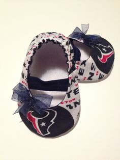Houston Texans Baby Maryjane Booties by saluna on Etsy, $17.99