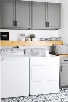 A Budget Sink Load Clothes by eddie DIY Laundry Room Storage Shelves Ideas Laundry room decor Small laundry room organization Laundry closet ideas Laundry room storage Stackable washer dryer laundry room Small laundry room makeover Laundry Room Remodel, Laundry Room Cabinets, Laundry Room Organization, Laundry Room Design, Laundry In Bathroom, Diy Cabinets, White Cabinets, Storage Organization, Laundry Closet
