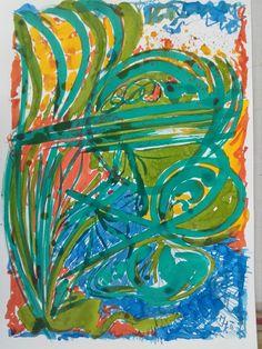 Karl M. Hausegger - Erste Arbeit i. d. Meisterklasse Malerei - Ortweinschule - Tusche auf Karton - 2016 - 50x70 cm Painting, Card Stock, Places, Paintings, Draw, Drawings