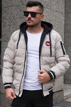 Geaca 2SIDE Crem-Negru Winter Jackets, Style, Fashion, Winter Coats, Swag, Moda, Winter Vest Outfits, Fashion Styles, Fashion Illustrations