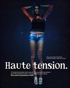 Haute Tension avec Natalia Vodianova par Paolo Roversi par Vogue Paris mars 2003 photo