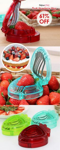 Fruit Strawberry Stainless Steel Slicer Kitchen Tools Gadgets is fashionable and cheap, come to NewChic to see more trendy Fruit Strawberry Stainless Steel Slicer Kitchen Tools Gadgets online. Kitchen Tools And Gadgets, Cooking Gadgets, Kitchen Hacks, Kitchen Stuff, Dig Gardens, Garden Posts, Garden Styles, Mango, Strawberry