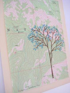Margins - hand-stitched print by Dana Robson $30