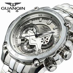 Original GUANQIN Men Quartz Watch Luminous Famous Brand Men Business Watch Waterproof Watches Clock Stainless Steel Wristwatches Like and Share if you want this  #shop #beauty #Woman's fashion #Products #Watch