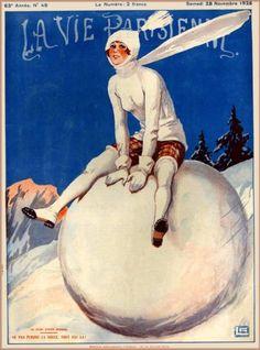 1925-La-Vie-Parisienne-Snowball-French-France-Travel-Advertisement-Art-Poster