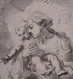 "Women Artists of the Renaissance: Elisabetta Sirani ""Madonna and Child (drawing)"" Expressive Art, Madonna And Child, Hippie Art, Classical Art, Art Graphique, Renaissance Art, Old Art, Drawing For Kids, Durham"
