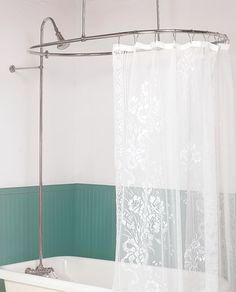 diy shower curtain rod for claw tub how to install clawfoot shower rod clawfoot curtain. Black Bedroom Furniture Sets. Home Design Ideas