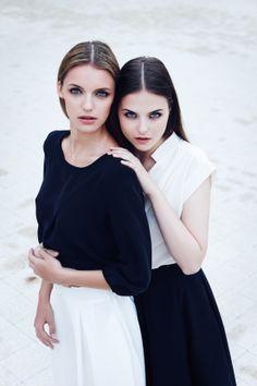 LONDON Blouse & VALENCIA Flare Skirt, GENEVA Blouse & VALENCIA Flare Skirt