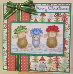 House-Mouse & Friends Monday Challenge: Buttons and Bows for Challenge #HMFMC180