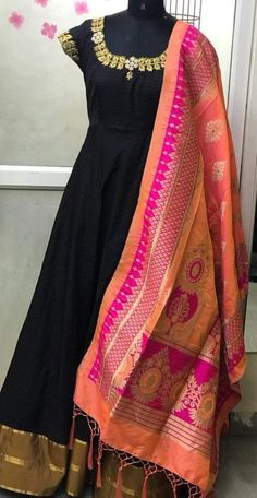 Its not that gud.still pretty❤ Indian Gowns, Indian Wear, Indian Outfits, Stylish Dress Designs, Beautiful Black Dresses, Anarkali Dress, India Fashion, Indian Designer Wear, Traditional Dresses