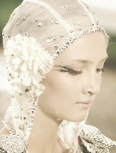 Chanel Haute Couture-I suppose there is something futuristic for me about the vaseline soft 20's haze, the silver embroidery and the dramatic eye makeup.