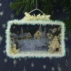 Silent Night Church Christmas Card Shadowbox by ChristmasNotebook
