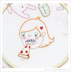 """In My Room"" Embroidery Patterns by TUESDAY BASSEN"