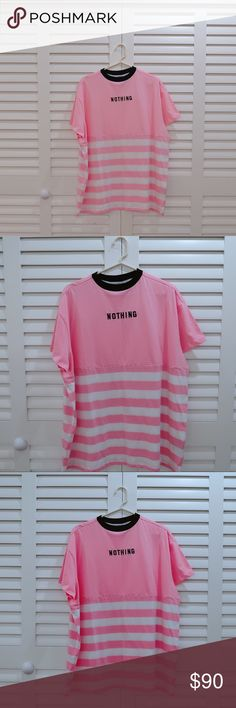 💓 Lazy Oaf Nothing T-shirt 💓 Now taking offers! Striped Nothing T-shirt by Lazy Oaf that was sold out on the web! This is NWT in a perfect condition. Don't miss your chance to grab one of their most popular t-shirts 💕💕💕 Lazy Oaf Tops Tees - Short Sleeve