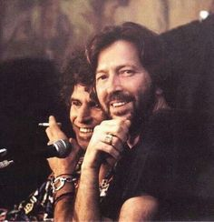 Music makers Keith Richards and Eric Clapton