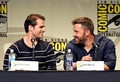 Henry Cavill and Ben Affleck #EWComicCon