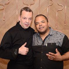 Culinary magic at Tamra today! Chef Roger Mooking and Chef Martin Braecker…