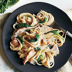 Grilled Chicken Florentine Pasta | CookingLight.com